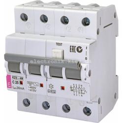 Диф. автоматический выключатель KZS-4M 3p+N C 25/0,03 тип AC (6kA) ETI