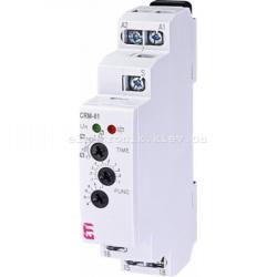 Многофункциональное реле времени CRM-61 UNI 24-240V AC, 24V DC (1x8A_AC1)