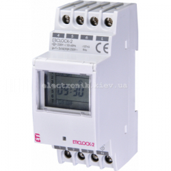 Цифровой таймер Eticlock-2 230V (2x16A_AC1)