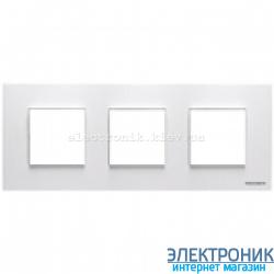 Рамка 3 пост ABВ Zenit белый