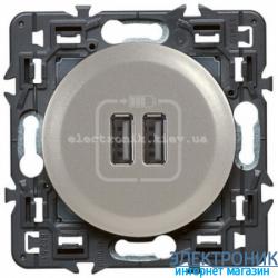 Розетка USB Legrand Celiane для зарядки двойная Титан