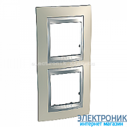 Рамка 2-я вертикальная Schneider Electric Unica Top Титановый/Алюминий