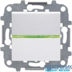 Выключатель 1-кл. универсальный с подсветкой ABВ Zenit белый
