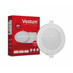 Светильник LED врезной круглый Vestum 3W 4000K 220V