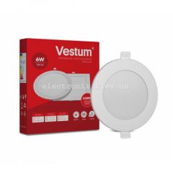Светильник LED врезной круглый Vestum 6W 4000K 220V
