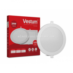 Светильник LED врезной круглый Vestum 24W 4000K 220V