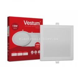 Светильник LED врезной квадратный Vestum 12W 4000K 220V