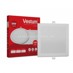 Светильник LED врезной квадратный Vestum 24W 4000K 220V