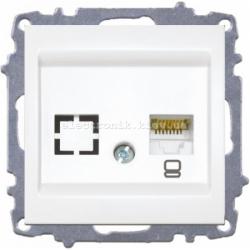 Механизм Розетка компьютерная EL-BI Zena белый