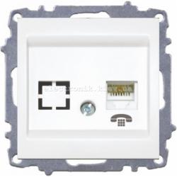Механизм Розетка телефонная EL-BI Zena белый