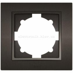 Рамка 1-я EL-BI Zena Silverline Дымчатый