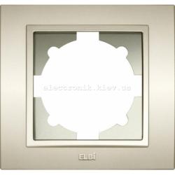 Рамка 1-я EL-BI Zena Silverline Титаниум