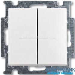 Выключатель 2-клав ABB Basic 55 белый