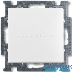 Выключатель 1-клав универсальный проходной ABB Basic 55 белый
