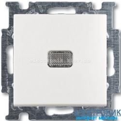 Выключатель 1-клав проходной с подсветкойABB Basic 55 белый
