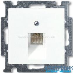 Компьютерная или телефонная розетка ABB Basic 55 белый