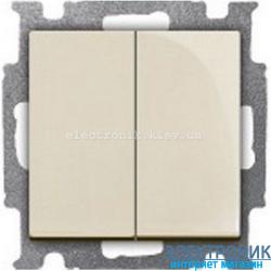 Выключатель 2-клав ABB Basic 55 бежевый