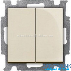 Выключатель 2-клав проходной ABB Basic 55 бежевый