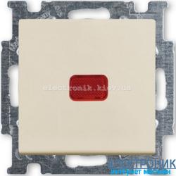 Выключатель 1-клав с подсветкой ABB Basic 55 бежевый