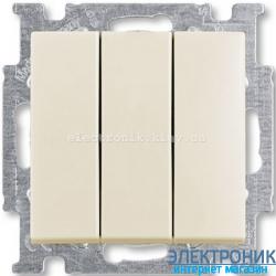 Выключатель 3-клав 16А ABB Basic 55 бежевый