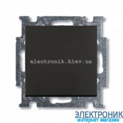 Выключатель 1-клав. универсальный проходной ABB Basic 55 шато черный