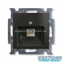 Компьютерная или телефонная розетка ABB Basic 55 шато черный