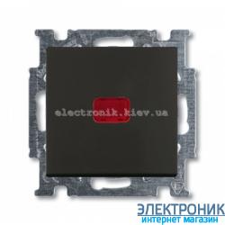 Выключатель 1-клав с подсветкой ABB Basic 55 шато черный