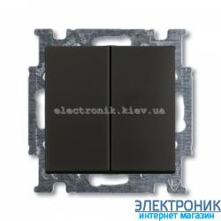 Выключатель 2-клав ABB Basic 55 шато черный