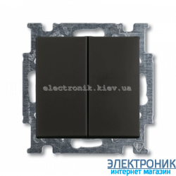 Выключатель 2-клав проходной ABB Basic 55 шато черный