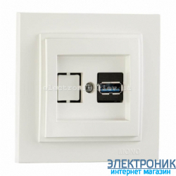Розетка USB с зарядкой Despina белый