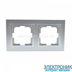 Рамка 2-ая горизонтальная Despina серебро