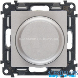 Светорегулятор (диммер) поворотный, 300 Вт, Легранд Валена Лайф (алюминий)