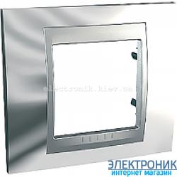 Рамка 1-я Schneider Electric Unica Top Блестящий хром/Алюминий