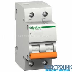 Автоматический выключатель Schneider-Electric Домовой ВА63 1P+N 50A C
