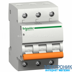 Автоматический выключатель Schneider-Electric Домовой ВА63 3P 40A C