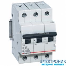 Автоматический выключатель Legrand RX3 - 3P 63А, C