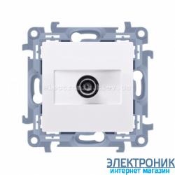 Розетка SIMON10 антенная, белый