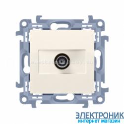 Розетка SIMON 10 антенная Крем