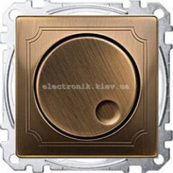 Светорегулятор универсальный 20-420, Вт Merten System Design Античная латунь