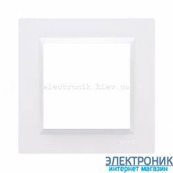 Рамка SIMON10 одинарная, белый