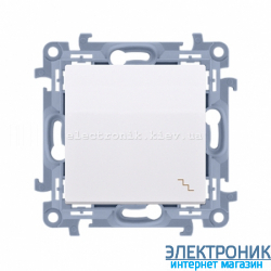 Выключатель SIMON10 проходной одинарный, белый