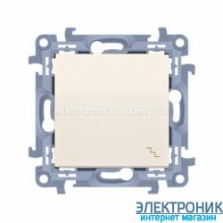 Выключатель SIMON10 проходной одинарный, кремовый
