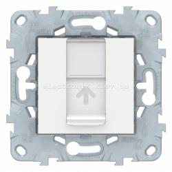 Розетка компьютерная 1-ая кат.5е, RJ-45 (интернет), Белый, серия Unica New