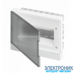 Щит прозрачный встраиваемый 12 М Basic E (с клеммами)