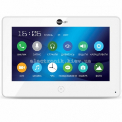 Цветной видеодомофон NeoLight ALPHA HD с 7 дюймовым экраном Белый