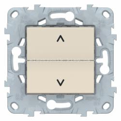 Выключатель для жалюзи (рольставней) кнопочный, Бежевый, серия Unica New