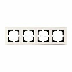 RAIN Рамка 4-ая горизонтальная жемчужно-белый перламутр