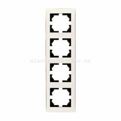 RAIN Рамка 4-ая вертикальная жемчужно-белый перламутр