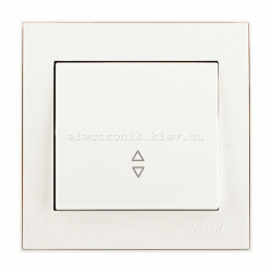 RAIN Выключатель проходной жемчужно-белый перламутр