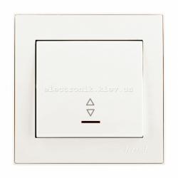RAIN Выключатель проходной с подсветкой жемчужно-белый перламутр
